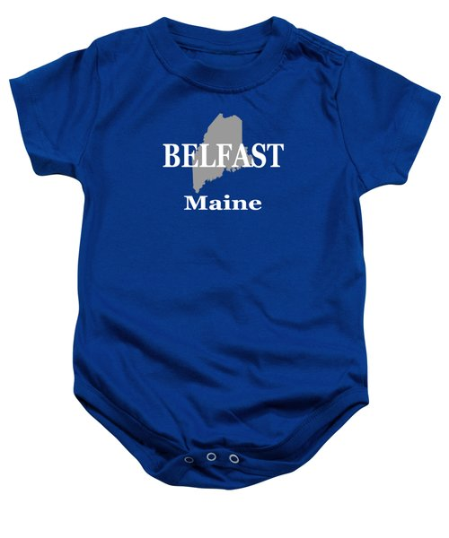 Belfast Maine State City And Town Pride  Baby Onesie