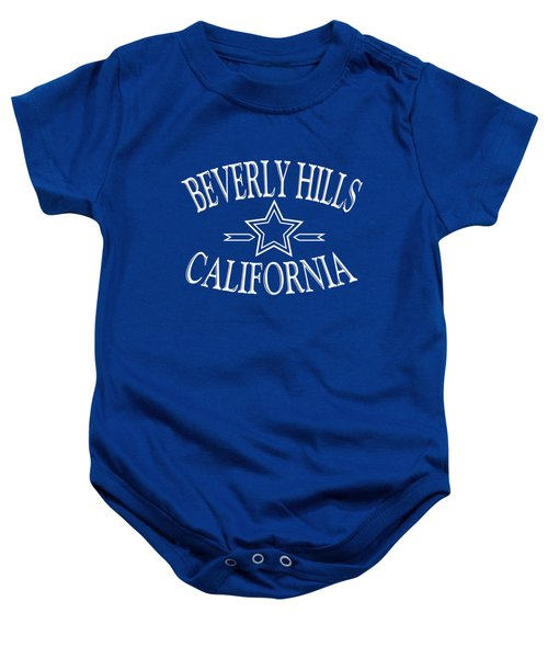 Beverly Hills California - Tshirt Design Baby Onesie by Art America Online Gallery