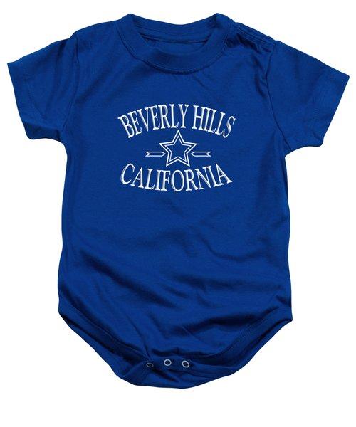 Beverly Hills California - Tshirt Design Baby Onesie by Art America Gallery Peter Potter