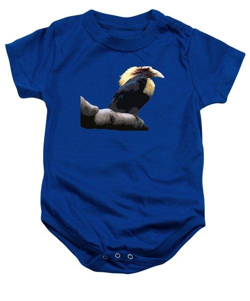 Big Beak Bird Art Baby Onesie