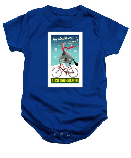 Bike Brookline Baby Onesie