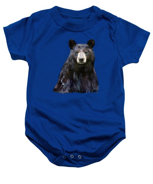 Black Bear Baby Onesie by Amy Hamilton