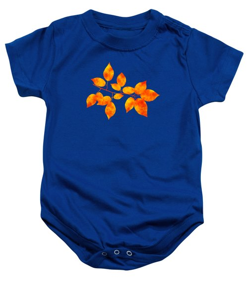 Black Cherry Pressed Leaf Art Baby Onesie
