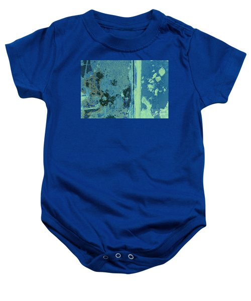 Blue Abstraction Baby Onesie