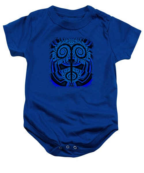 Blue And Black Mask 2 Baby Onesie