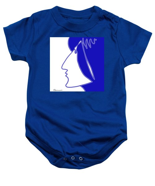 Blue Belle Baby Onesie