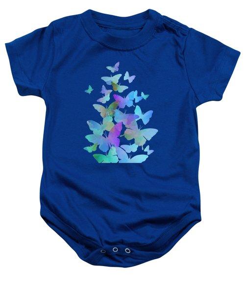 Blue Butterfly Flutter Baby Onesie