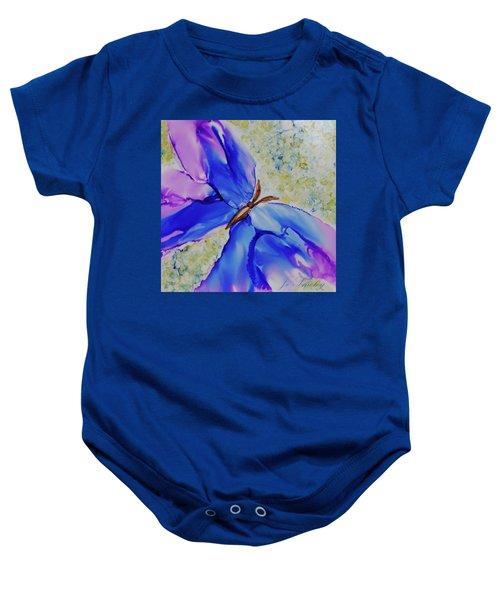 Blue Butterfly Baby Onesie