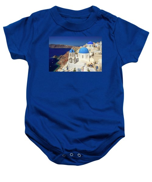 Blue Domed Churches Baby Onesie