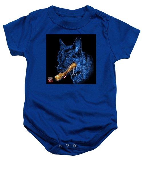 Blue German Shepherd And Toy - 0745 F Baby Onesie