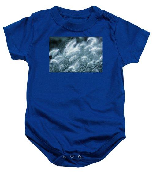 Blue Gras Baby Onesie
