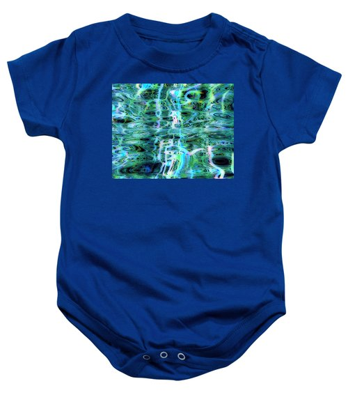 Blue Green Abstract 091015 Baby Onesie