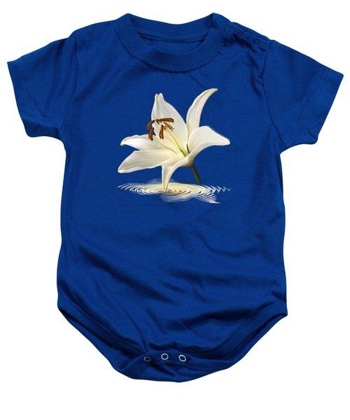 Blue Horizons - White Lily Baby Onesie