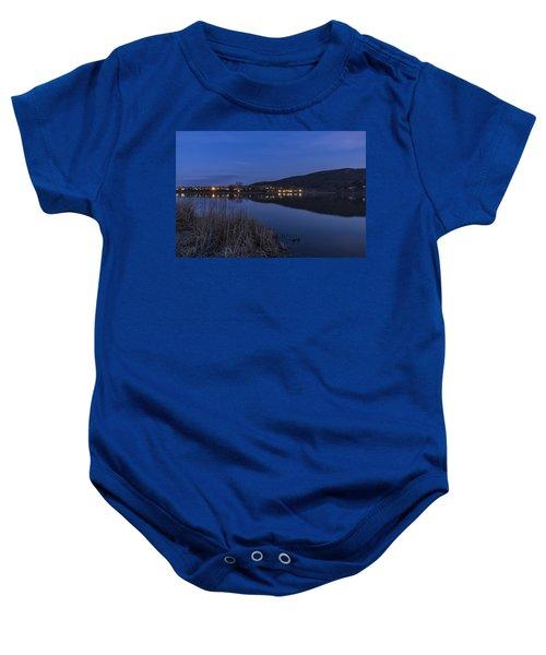 Blue Hour Retreat Meadows Baby Onesie