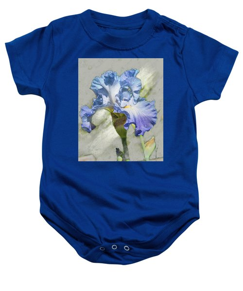 Blue Iris 2 Baby Onesie