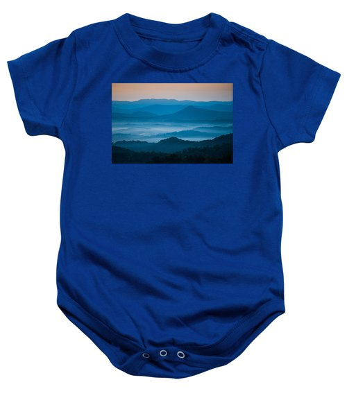 Blue Morning Baby Onesie