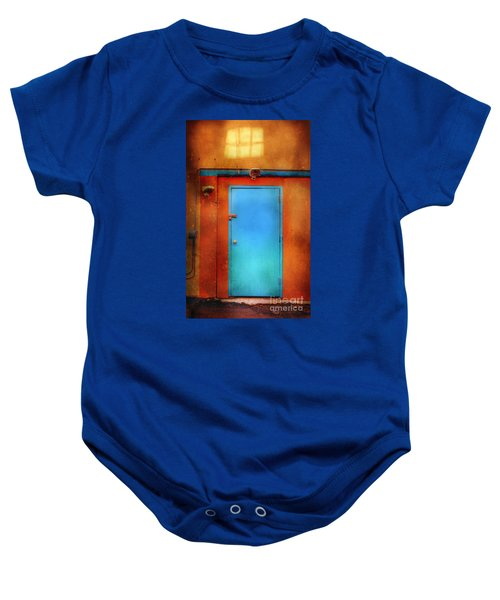 Blue Taos Door Baby Onesie