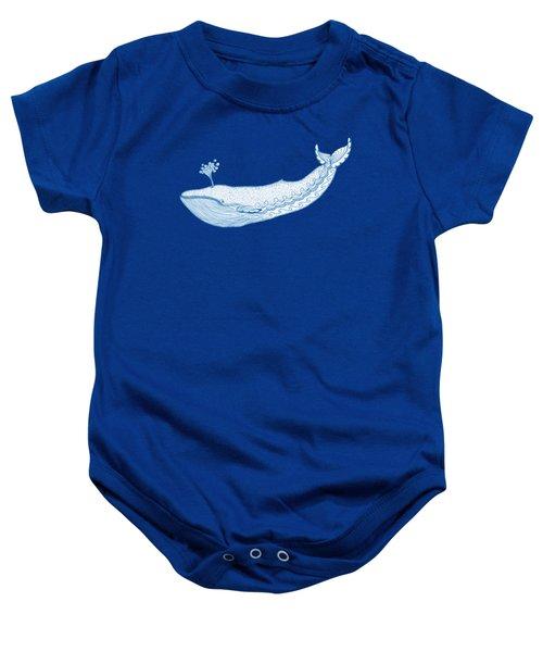 Blue Whale Baby Onesie by Eko Octavianus