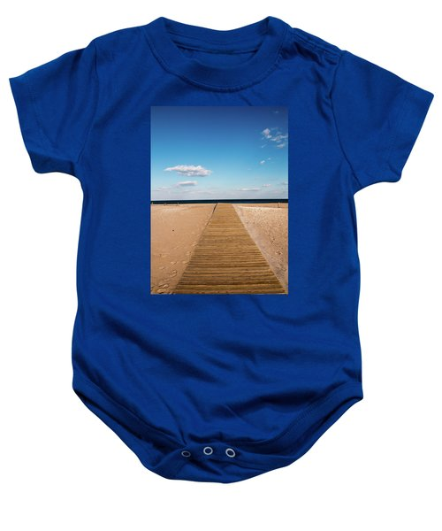 Boardwalk To The Ocean Baby Onesie