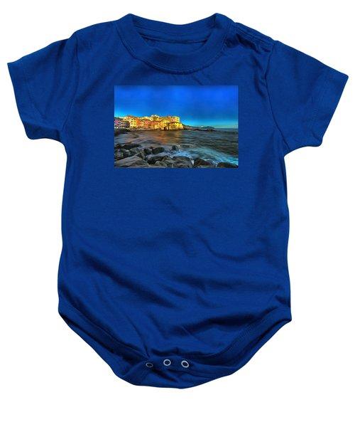 Boccadasse Beach On An Autumn Bright Sunny Day Baby Onesie