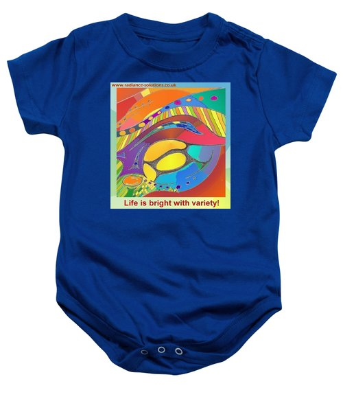 Bold Organic - Life Is Bright With Variety Baby Onesie