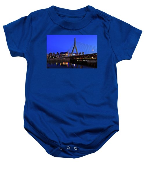 Boston Garden And Zakim Bridge Baby Onesie
