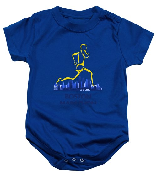 Boston Marathon5 Baby Onesie by Joe Hamilton