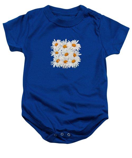 Bouquet Of White Daisies Baby Onesie