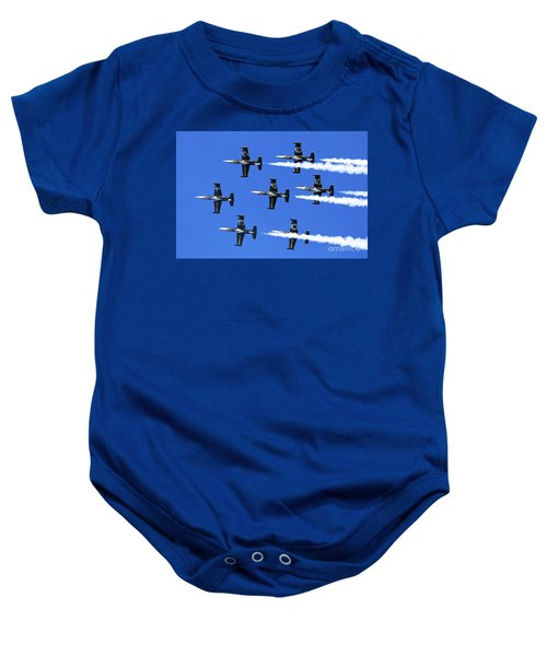 Breitling Air Display Team L-39 Albatross Baby Onesie by Nir Ben-Yosef