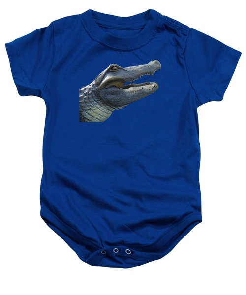 Bull Gator Portrait Transparent For T Shirts Baby Onesie
