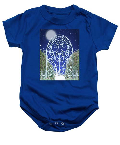 Bunny, Gate And Moon Baby Onesie