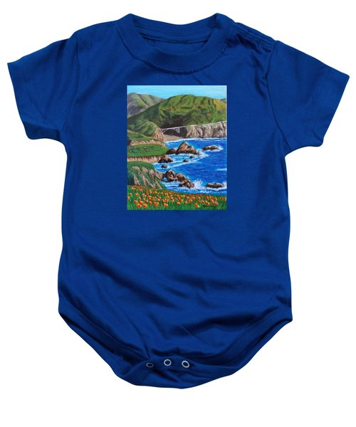 California Coastline Baby Onesie