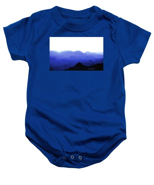 Canyon In Blue Baby Onesie
