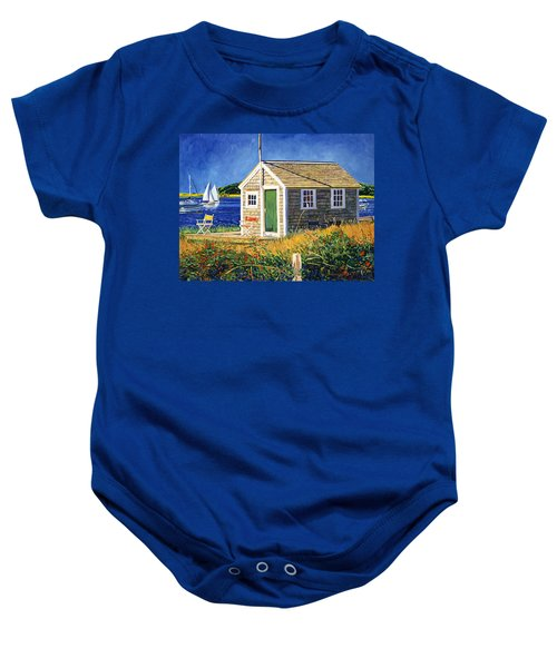 Cape Cod Boat House Baby Onesie