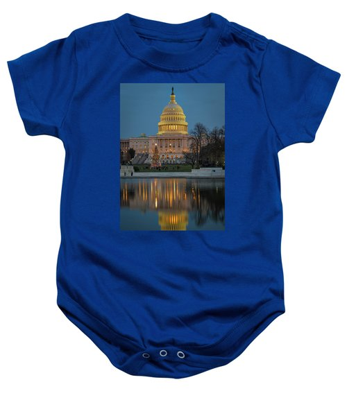 Capitol Reflection At Christmas Baby Onesie