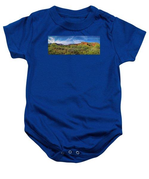 Caprock Canyon Panorama 2 Baby Onesie