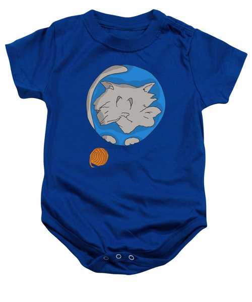 Cat Planet Baby Onesie