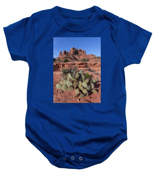Cathedral Rock Cactus Grove Baby Onesie
