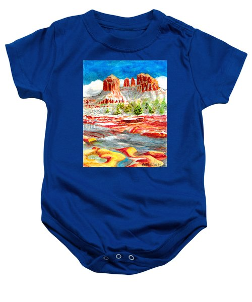 Cathedral Rock Crossing Baby Onesie
