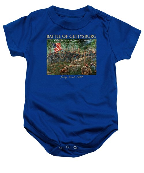 Charge Of The 20th Maine - Joshua L. Chamberlain Leading The 20th Maine Regiment On Little Round Top Baby Onesie