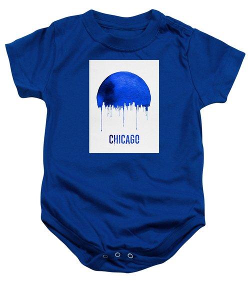 Chicago Skyline Blue Baby Onesie by Naxart Studio