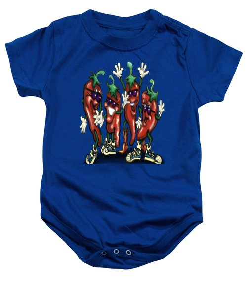 Chili Peppers Gang Baby Onesie