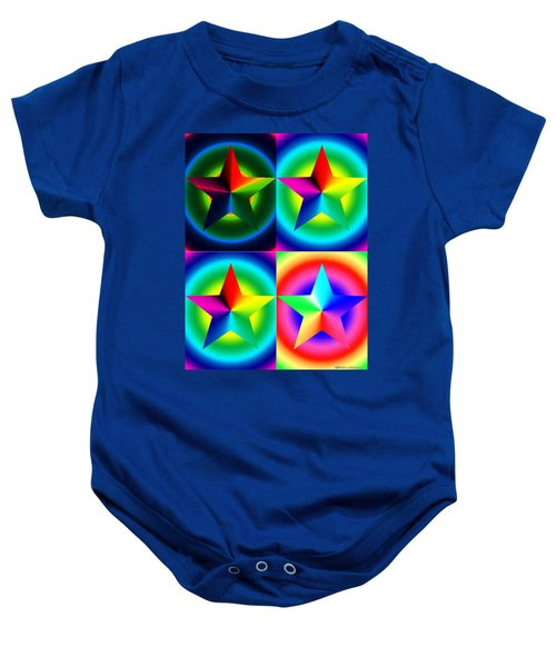 Chromatic Star Quartet With Ring Gradients Baby Onesie