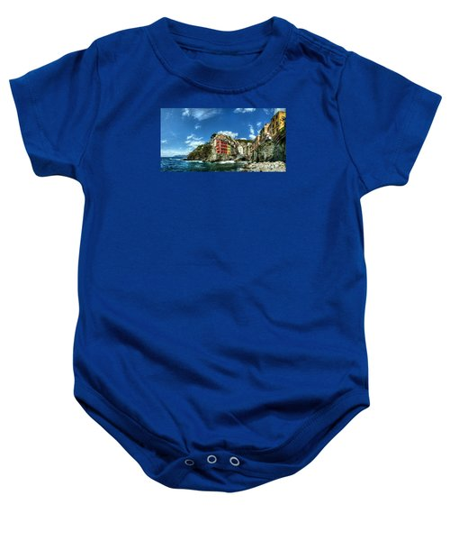 Cinque Terre - View Of Riomaggiore Baby Onesie