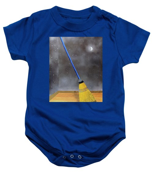 Cleaning Out The Universe Baby Onesie