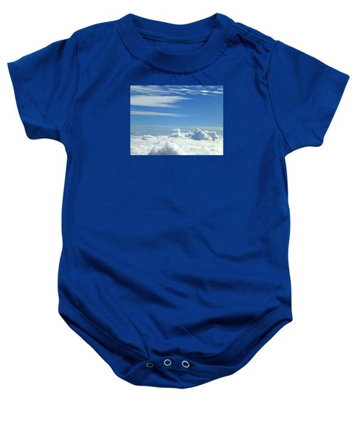 Baby Onesie featuring the photograph Clouds And Sky M4 by Francesca Mackenney