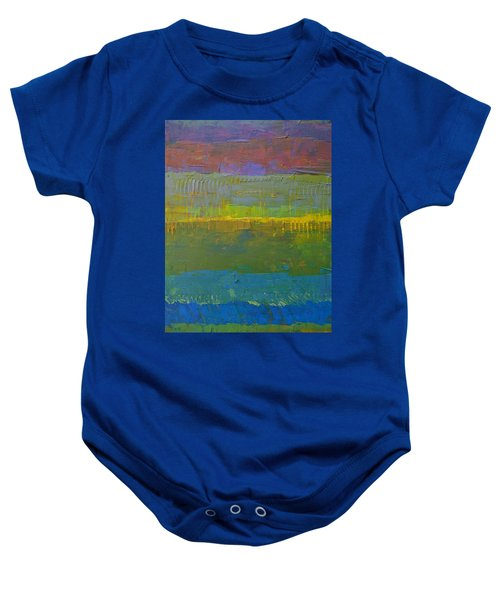 Baby Onesie featuring the painting Color Collage Five by Michelle Calkins