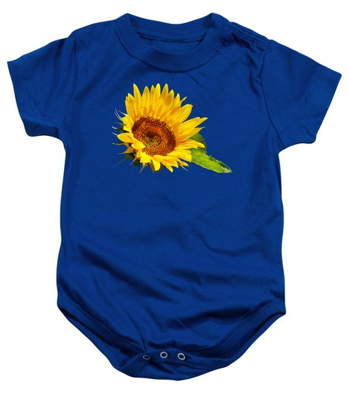 Color Me Happy Sunflower Baby Onesie by Christina Rollo
