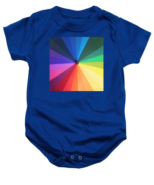 Color Wheel Baby Onesie