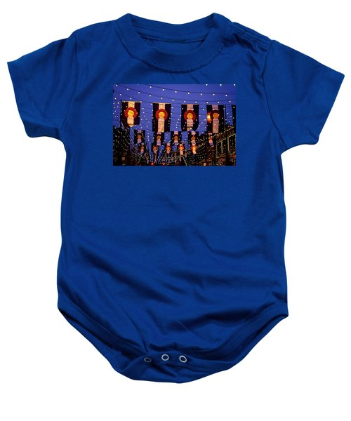 Colorado Flags On Larimer Square Denver Baby Onesie